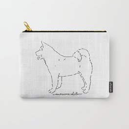 American Akita sketch Carry-All Pouch