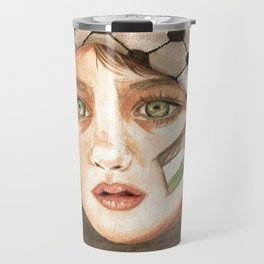 Free Palestine in watercolor Travel Mug