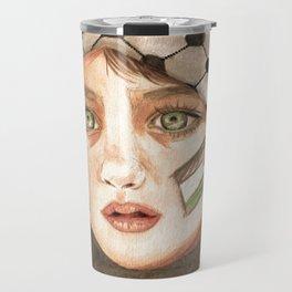 Free Palestine in watercolor Travel Mug