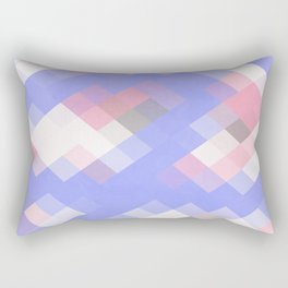 Abstract Square Pattern Pastel Rectangular Pillow
