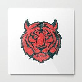 Distressed Tiger Metal Print