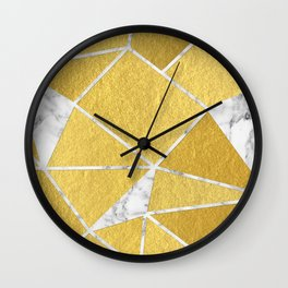 Shattered Gold + Marble Wall Clock