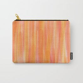Sunset Red Orange and Yellow Watercolor Carry-All Pouch