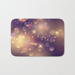 Festive Sparkles in Purple Bath Mat
