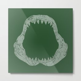 Distressed Jaw Metal Print