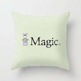 Magic Bunny Throw Pillow