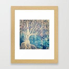 Windy Winter Tree Framed Art Print