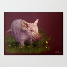 { Pig } Canvas Print