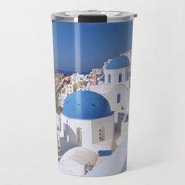 Oia Village in Santorini Travel Mug