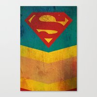 supergirl Canvas Prints featuring Supergirl by Fries Frame