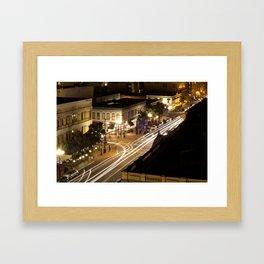 Speed of the Night Framed Art Print