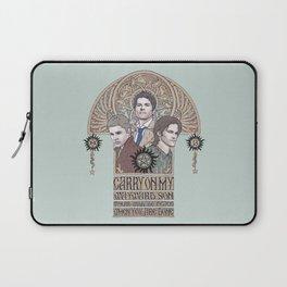 Carry On My Wayward Son (Castiel, Sam and Dean Winchester) Laptop Sleeve