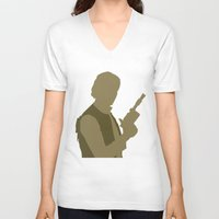 han solo V-neck T-shirts featuring Han Solo by olive hue designs