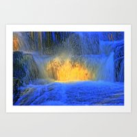 Fire on Water Art Print