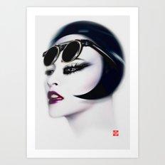 Retro Muse / 5 Art Print