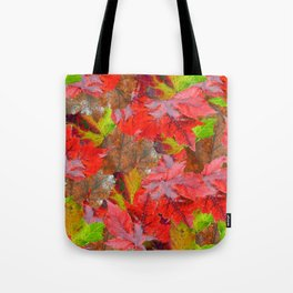 Autumn Fallen Leaves Tote Bag