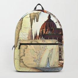 Budapest Globe Map Backpack