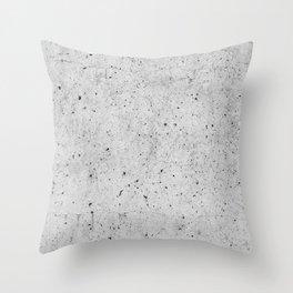 Light Concrete Texture Print Throw Pillow