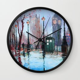 dr who art painting Wall Clock