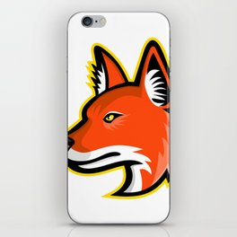 Dhole or Asiatic Wild Dog Mascot iPhone Skin