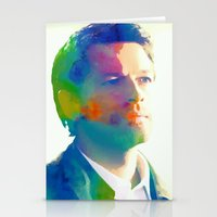 castiel Stationery Cards featuring Castiel  by mishainmydreams