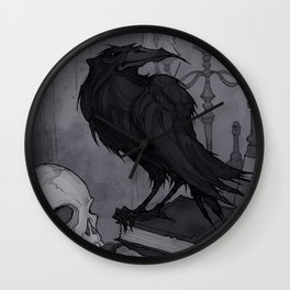 Once upon a Midnight Dreary Wall Clock