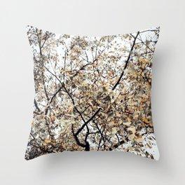 Fading autumn Throw Pillow
