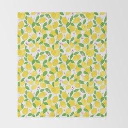 california lemons Throw Blanket