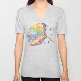 The Painted Quilt Unisex V-Neck