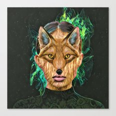 Green Fox Canvas Print