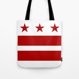 Washington DC District Of Columbia Flag Tote Bag