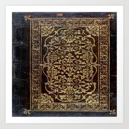 Gilded Leather Tome Art Print