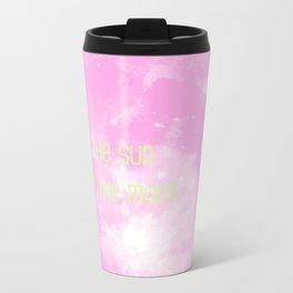 Love By The Moon Pink Metal Travel Mug