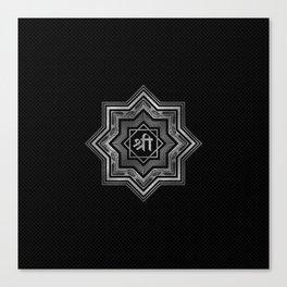 Silver Star of Lakshmi - Ashthalakshmi  and Sri Canvas Print