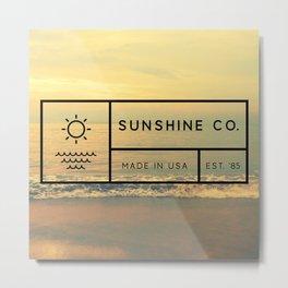 Sunshine Co. Metal Print