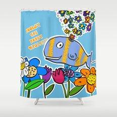 HOORAY THE HONEY WHALE Shower Curtain