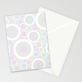 Pastel Rainbow Circles Stationery Cards