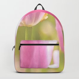 Spring is here with wonderful  colors - close-up of tulips flowers Backpack