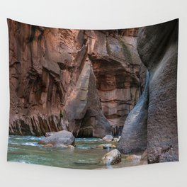 Man With Drowning Concerns (The Narrows, Zion National Park, Utah) Wall Tapestry