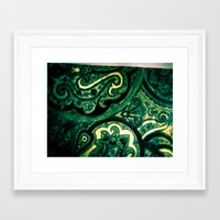 paisley Framed Art Prints featuring Paisley by Kim Ramage