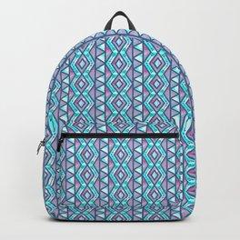 Purple And Blue Zig Zag Tribal Arrow Boho Pattern Backpack