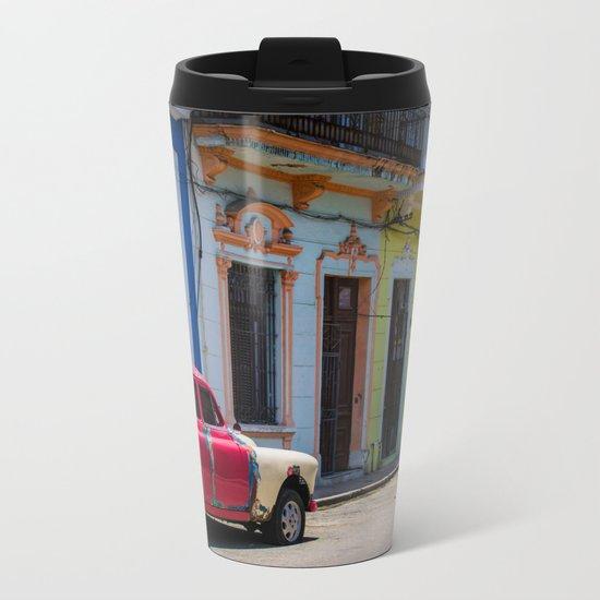 Colors of the Rainbow Metal Travel Mug