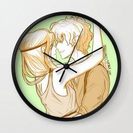 CaLeo New Year's Kisses Wall Clock