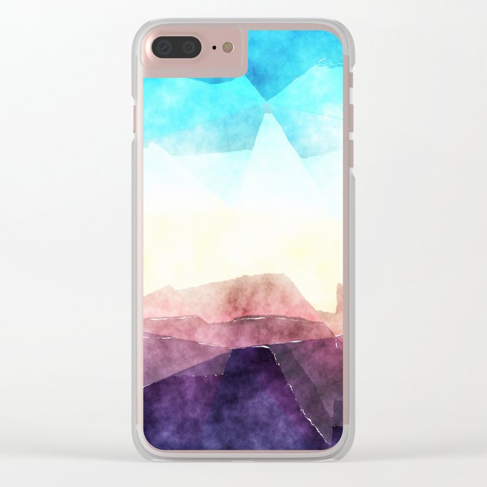 In the sea- abstract watercolor - Original triangle pattern Clear iPhone Case