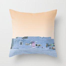 Moroccan Dar in Blue Throw Pillow
