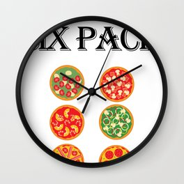 Check Out My Six Pack Pizza Funny Workout Gym Wall Clock