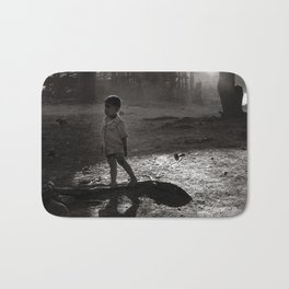 "Little Boy in Central Highland of Vietnam - ""VACANCY"" zine Bath Mat"