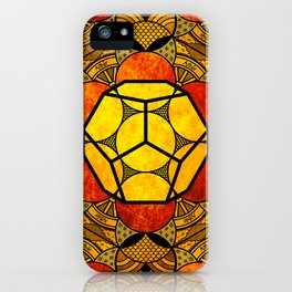 Sacred Geometry for your daily life -  Platonic Solids - ETHER COLOR iPhone Case