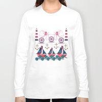 sailor Long Sleeve T-shirts featuring Sailor by famenxt