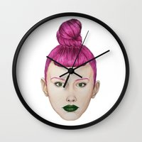 ufo Wall Clocks featuring UFO by Cannibal Malabar